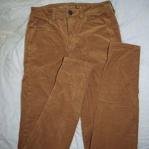 American Eagle Outfitters Pants - American eagle mustard corduroy pants 0 long
